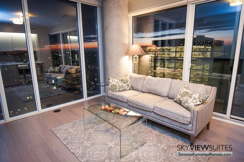 short-term-rentals-toronto-living-room-financial-district
