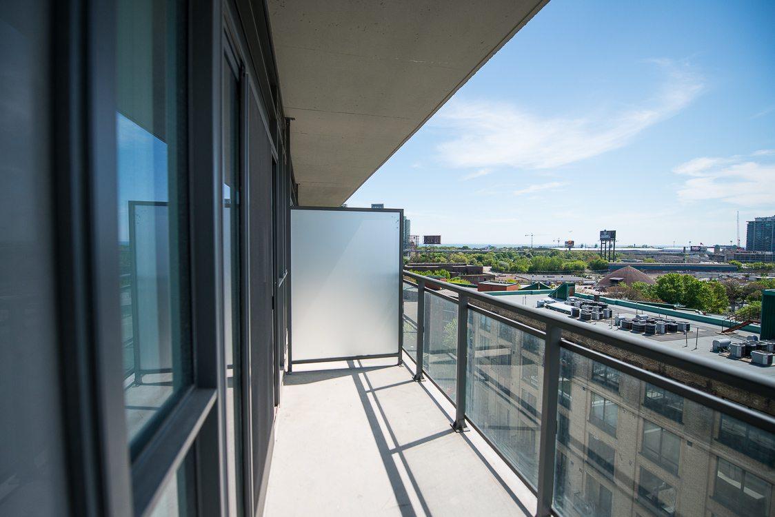 Toronto Furnished apartment balcony king west