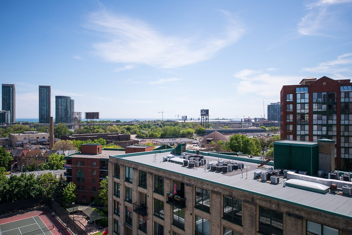 The view from a Toronto furnished apartment on King West