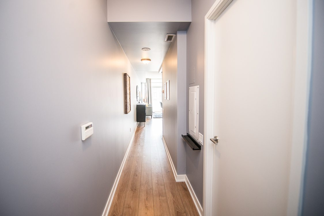 hallway in toronto furnished apartment in king west