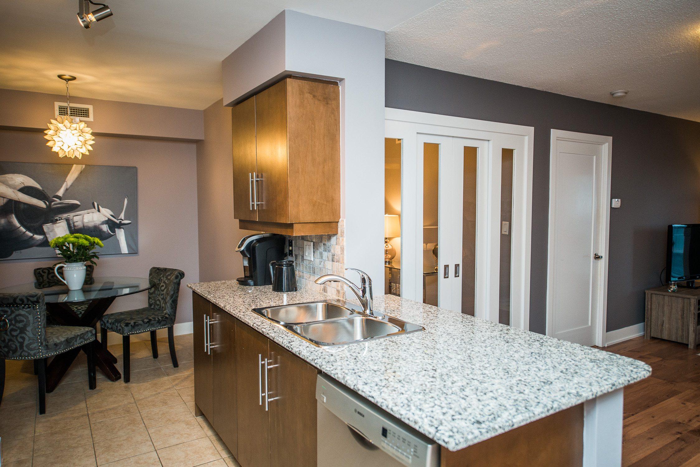 toronto furnished apartment kitchen