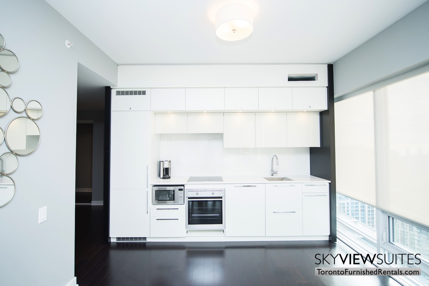 Cityplace furnished condo toronto kitchen
