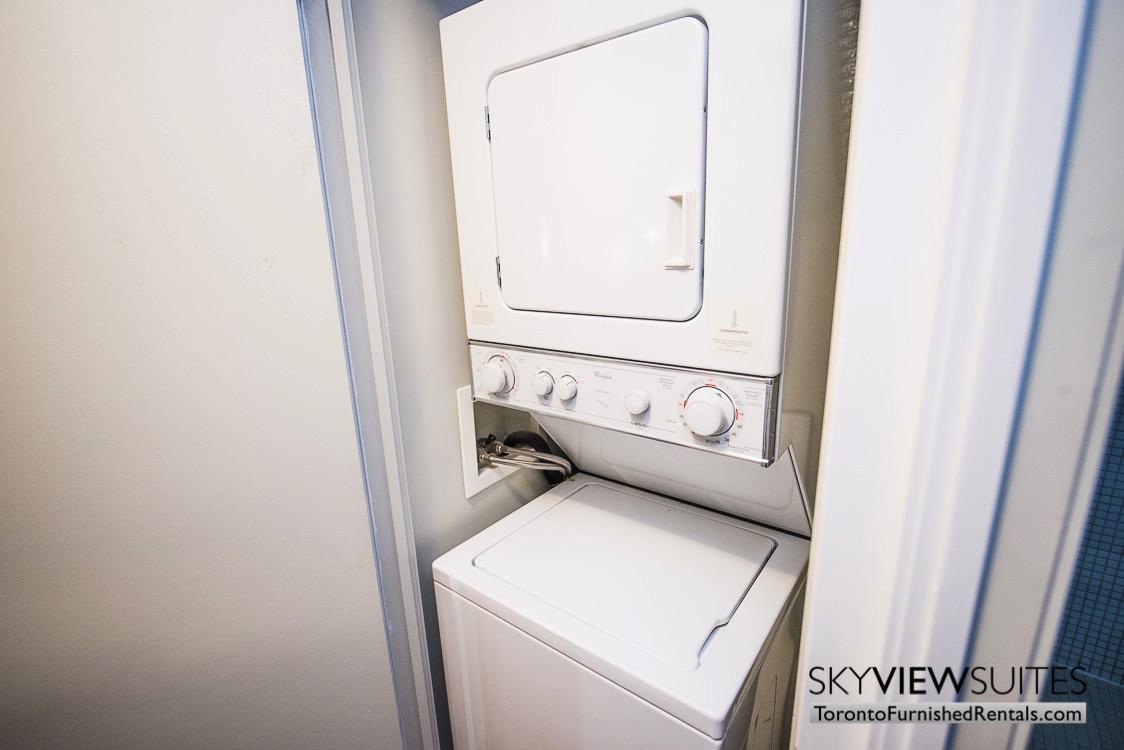furnished rentals the Urban toronto washing machine