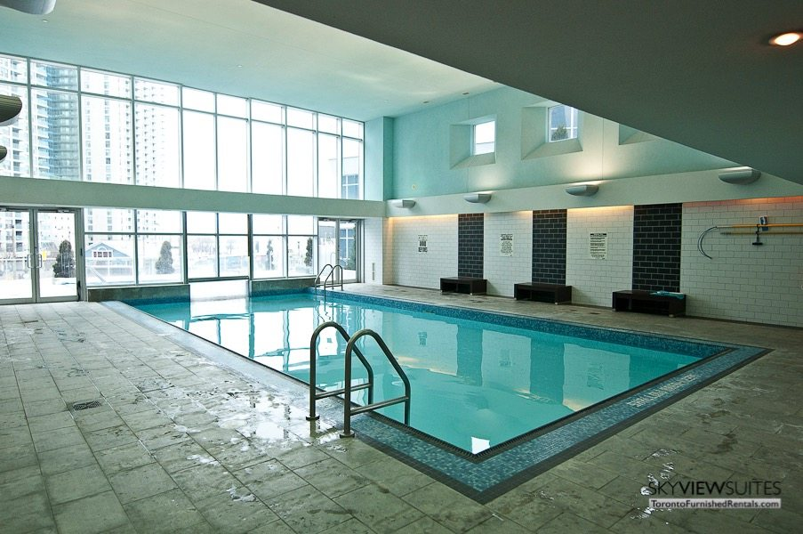 short term rentals toronto waterclub indoor pool