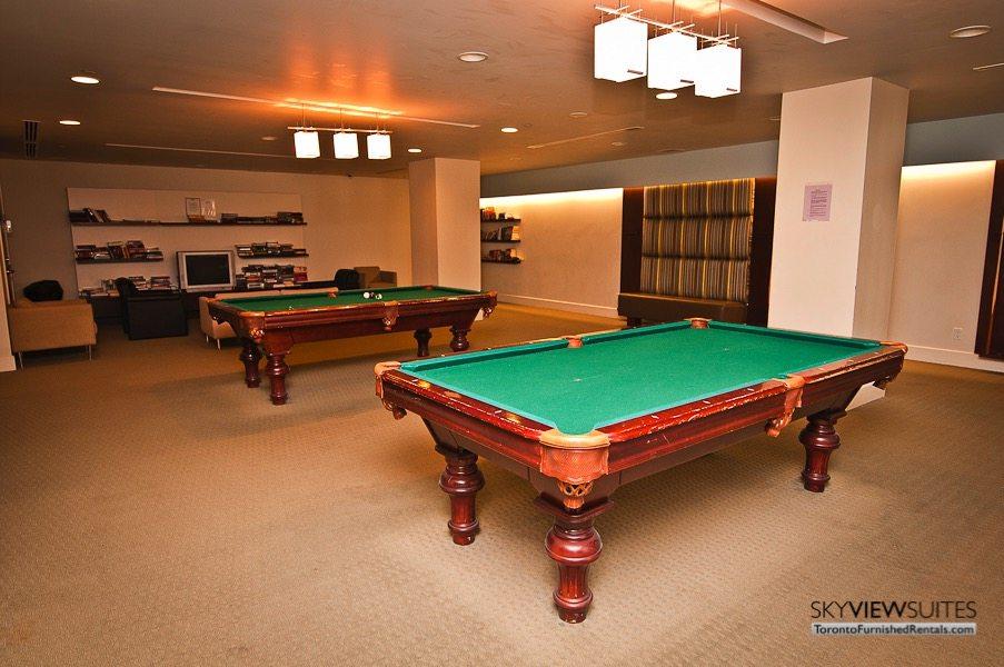 short term rentals toronto waterclub pool table