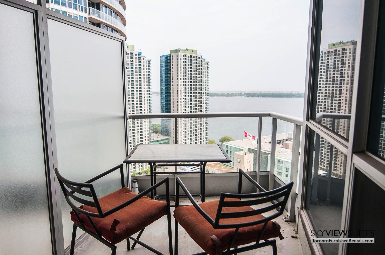 furnished rentals toronto waterfront balcony