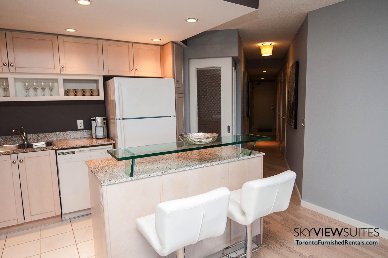 furnished rentals toronto waterfront kitchen counter