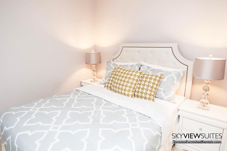 furnished rentals toronto waterfront yellow pillow