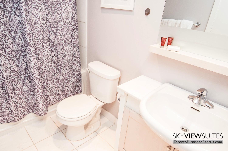 furnished rentals toronto waterfront shower