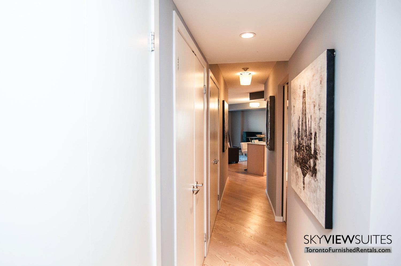 hallway to furnished rentals toronto waterfront