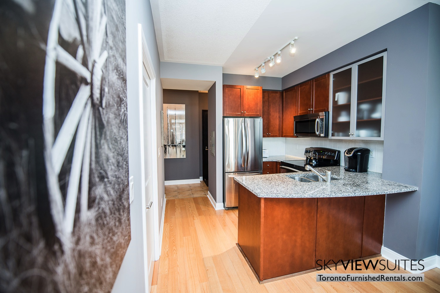 corporate rentals Yorkville toronto kitchen