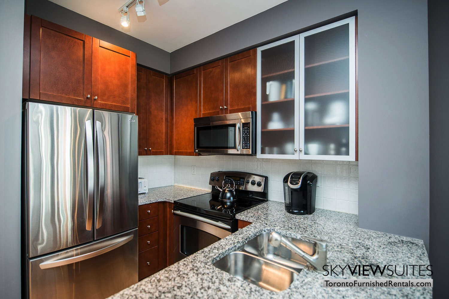 corporate rentals Yorkville toronto kitchen and kettle