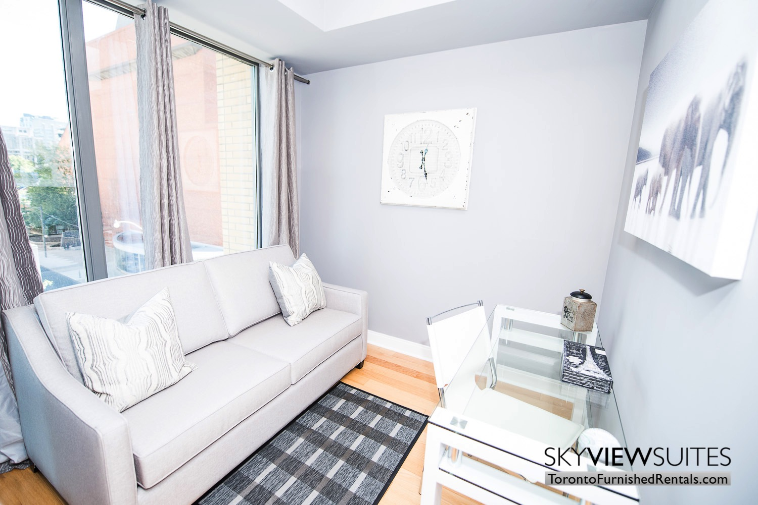 corporate rentals Yorkville toronto couch and desk