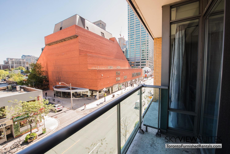 corporate rentals Yorkville toronto balcony view