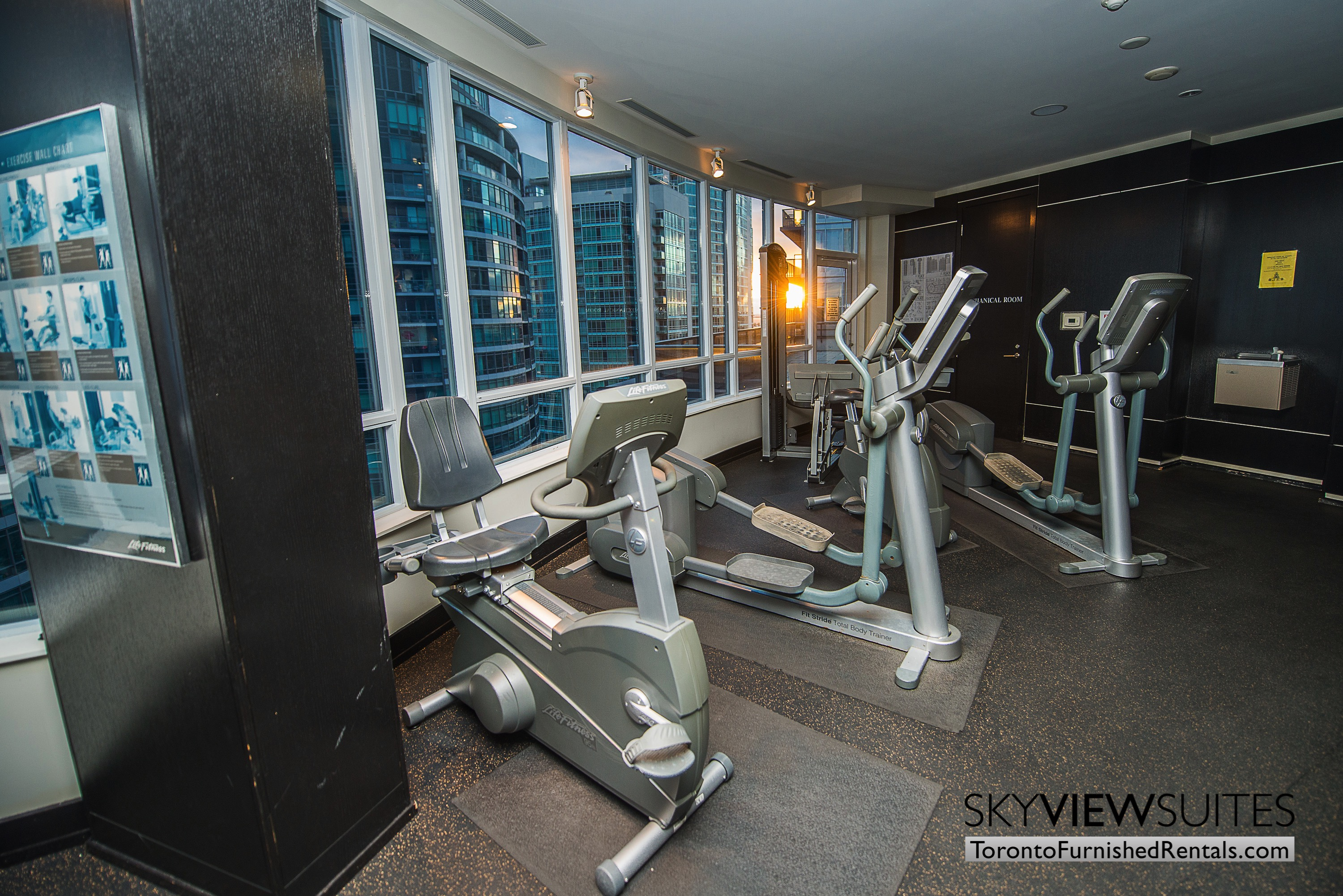 Signature suites furnished toronto fitness room