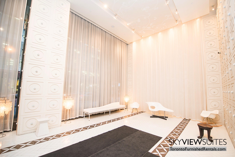 Signature suites furnished toronto lobby