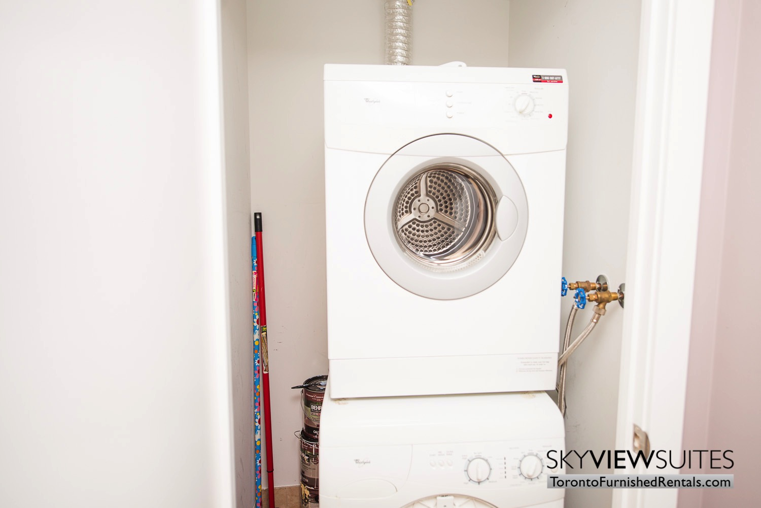 Signature suites furnished toronto washing drying machines