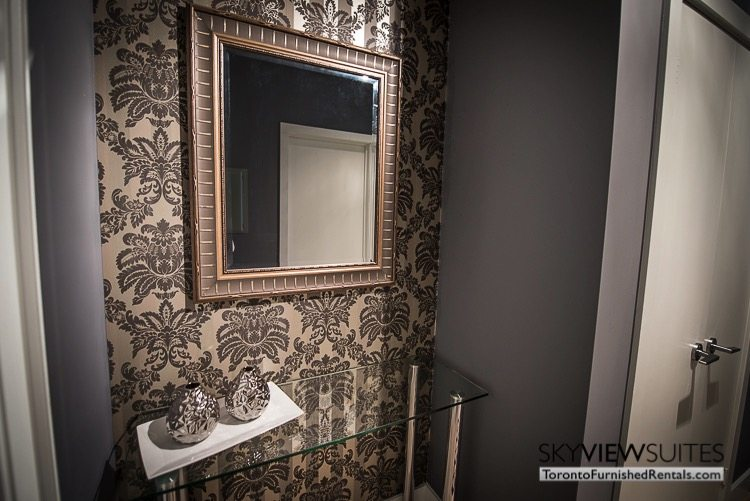 The Hudson executive rental front hall mirror