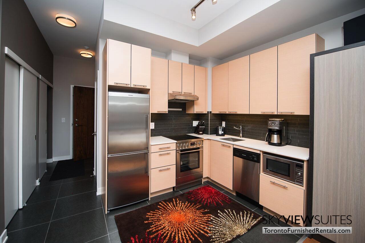 Market Street Toronto corporate rentals toronto kitchen