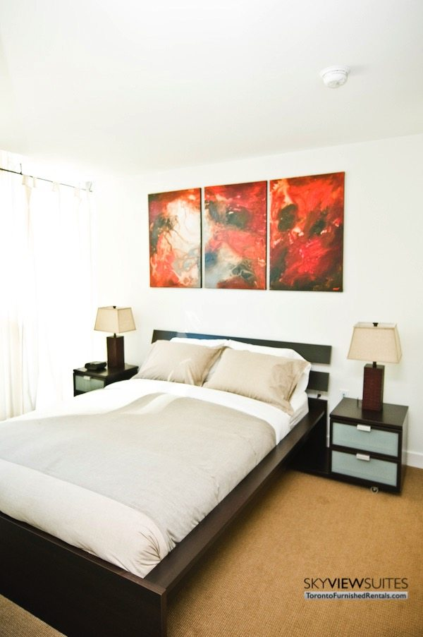 Cityplace corporate rentals Toronto bedroom