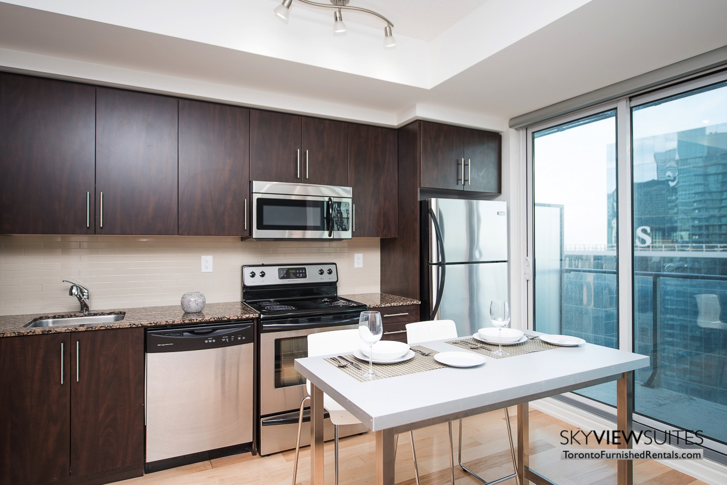 MLS furnished condo toronto oven kitchen