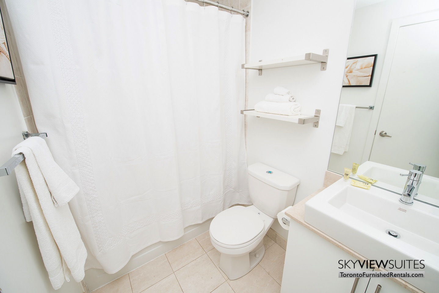 MLS furnished condo toronto bathroom