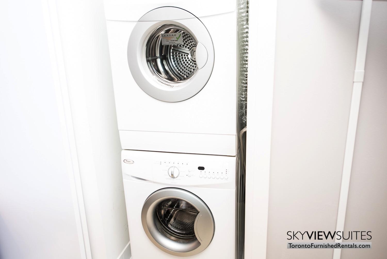 washing machine Theatre Park serviced condo Toronto