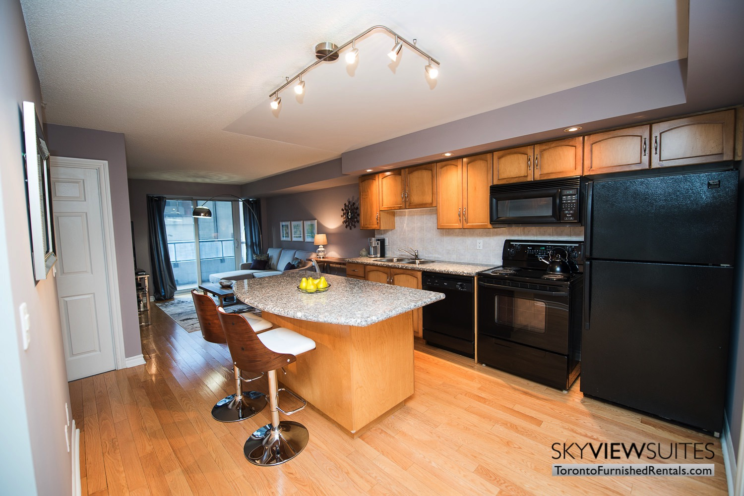 short-term-rental-kitchen-entertainment-district