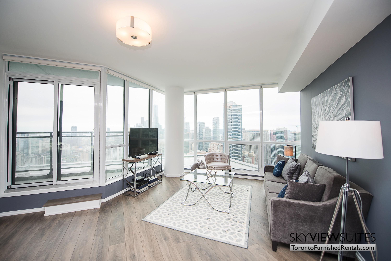 corporate rentals Yorkville toronto bedroom couch