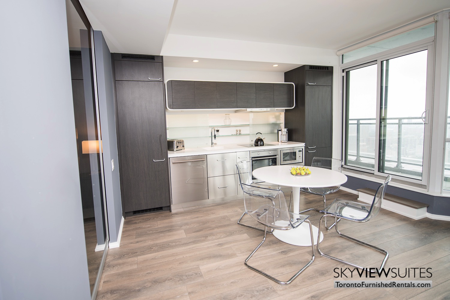 corporate rentals Yorkville toronto kitchen and table