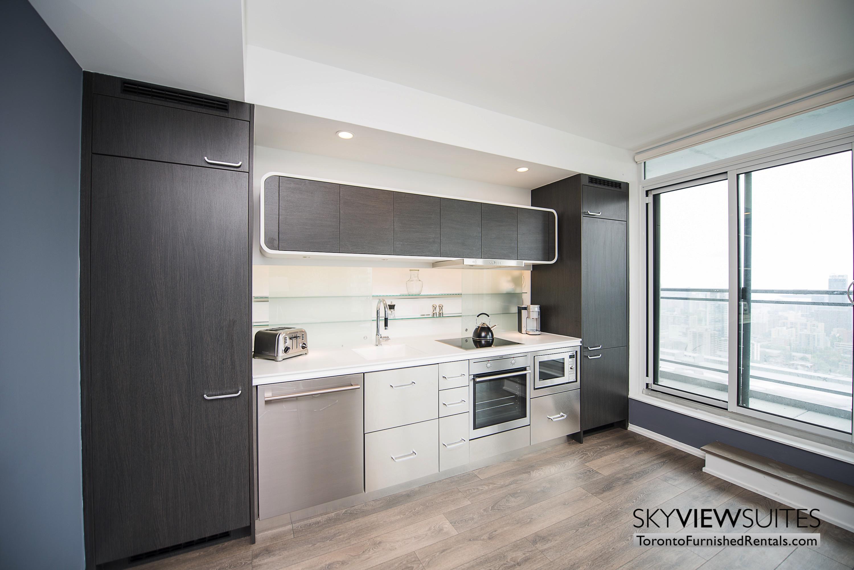 corporate rentals Yorkville toronto kitchen