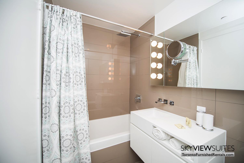 corporate rentals Yorkville toronto bathroom