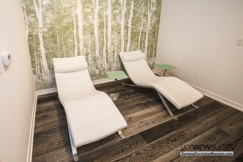 corporate rentals Yorkville toronto lawn chair den