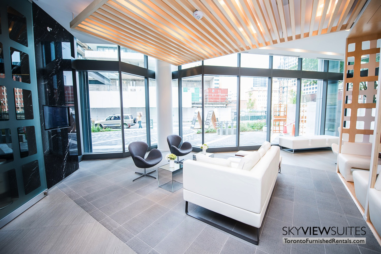 corporate rentals Yorkville toronto lobby