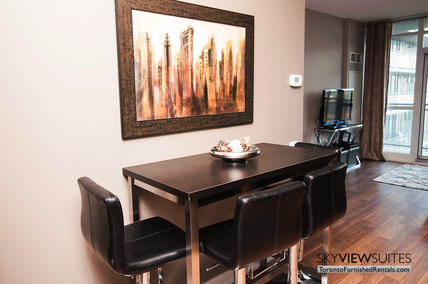 King west corporate rentals toronto dining table