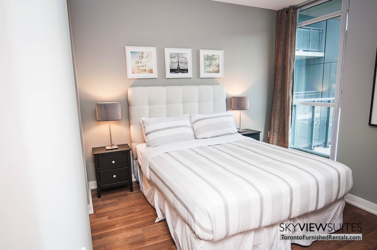 King west corporate rentals toronto white bedsheets