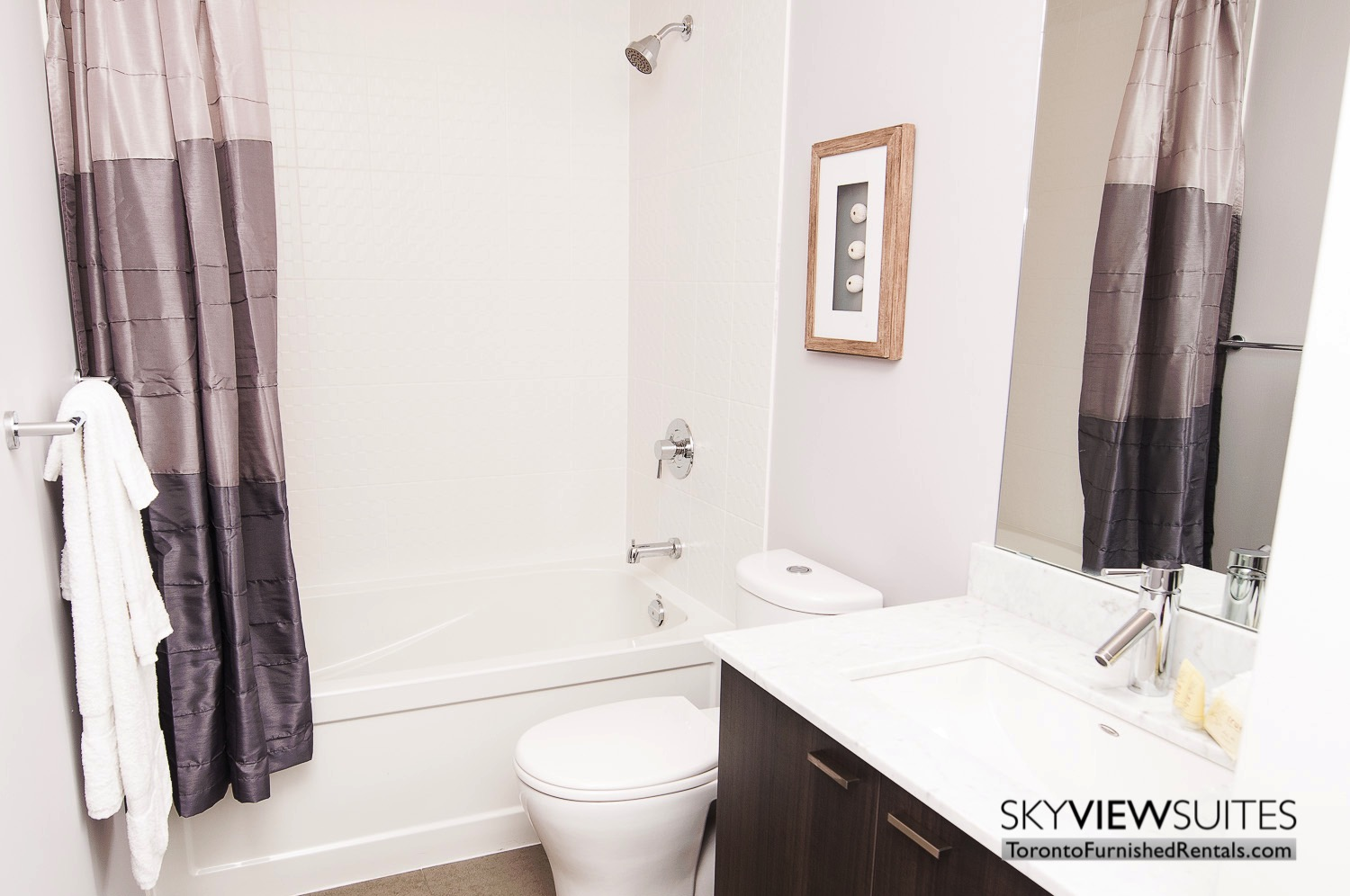 King west corporate rentals toronto shower and sink
