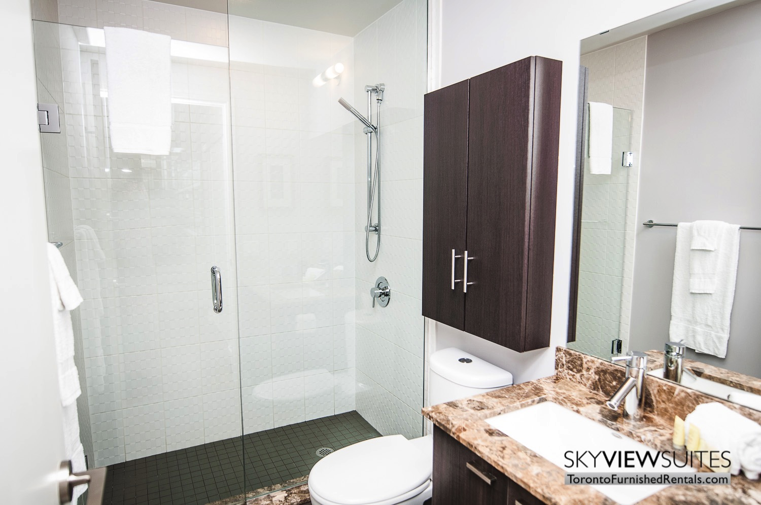 King west corporate rentals toronto bathroom and shower