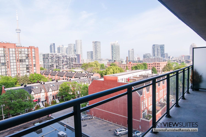 King west corporate rentals toronto balcony
