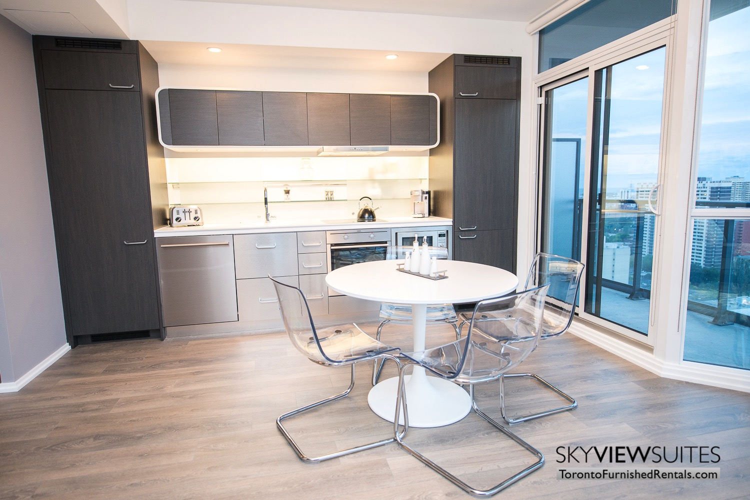 corporate rentals Yorkville toronto table and kitchen