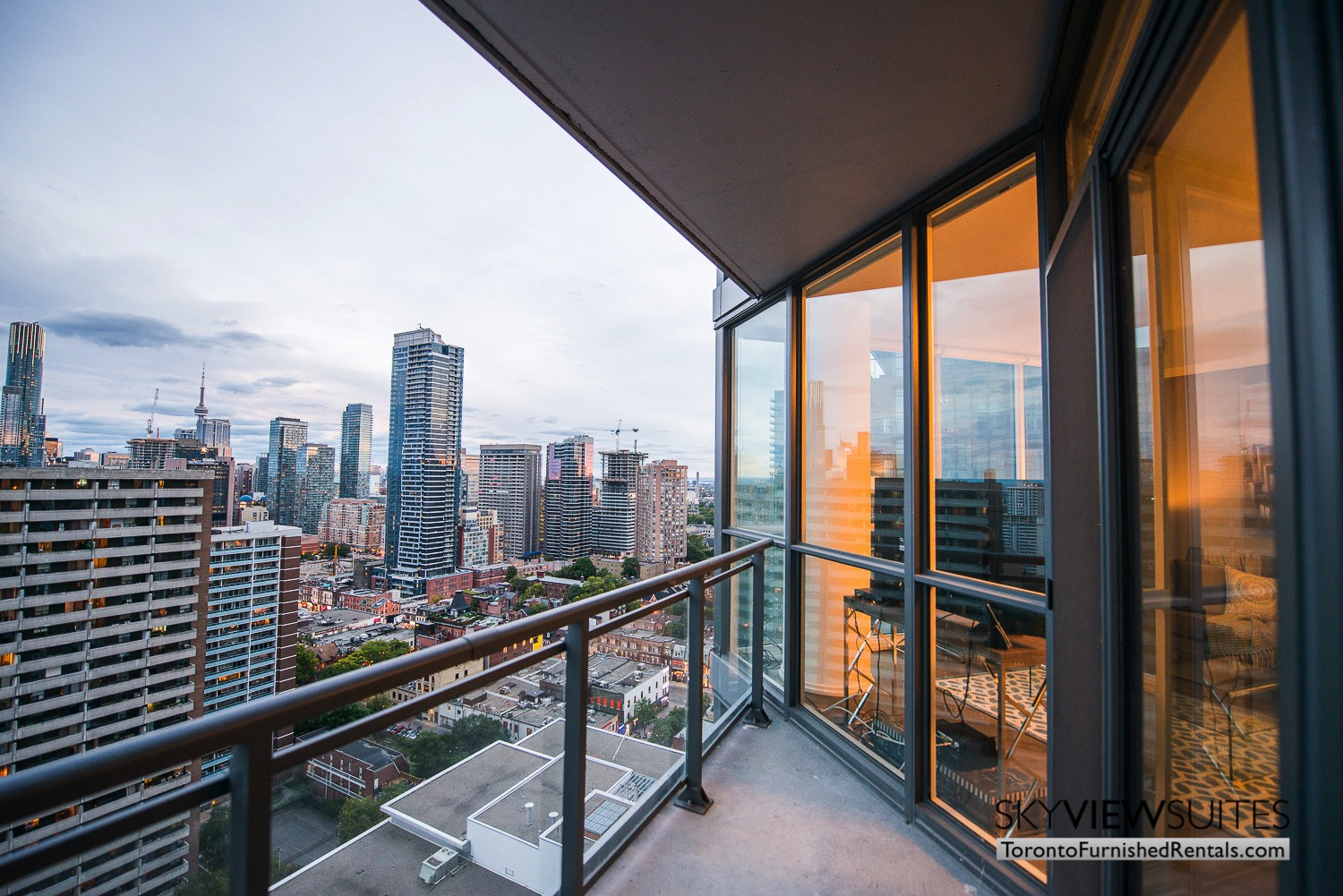 corporate rentals Yorkville toronto balcony