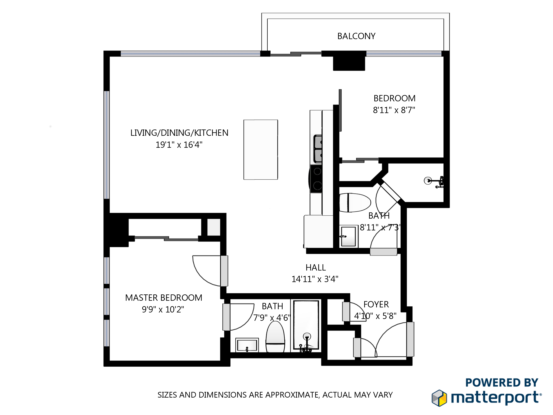 executive rentals toronto Maple Leaf Square floorplan