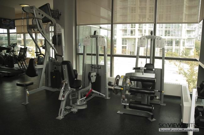 Cityplace West Toronto fitness room furnished condo