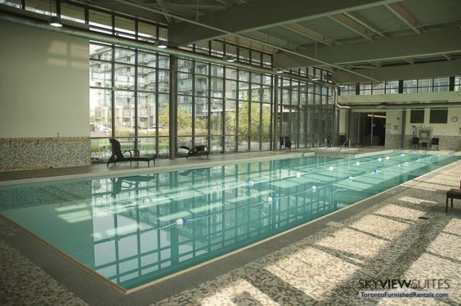 Cityplace West Toronto indoor pool furnished condo