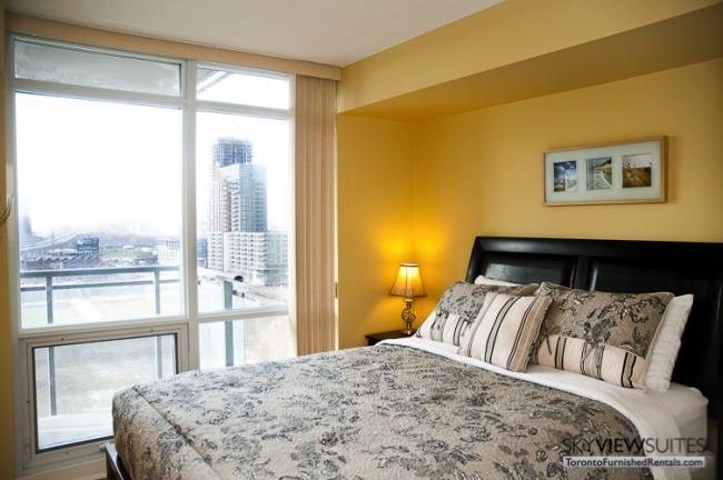 Cityplace West Toronto bedroom furnished condo