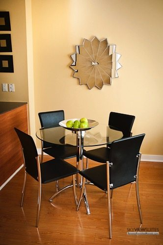 Cityplace West Toronto dining room furnished condo