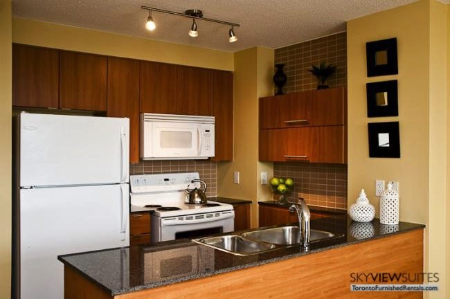Cityplace West Toronto kitchen furnished condo