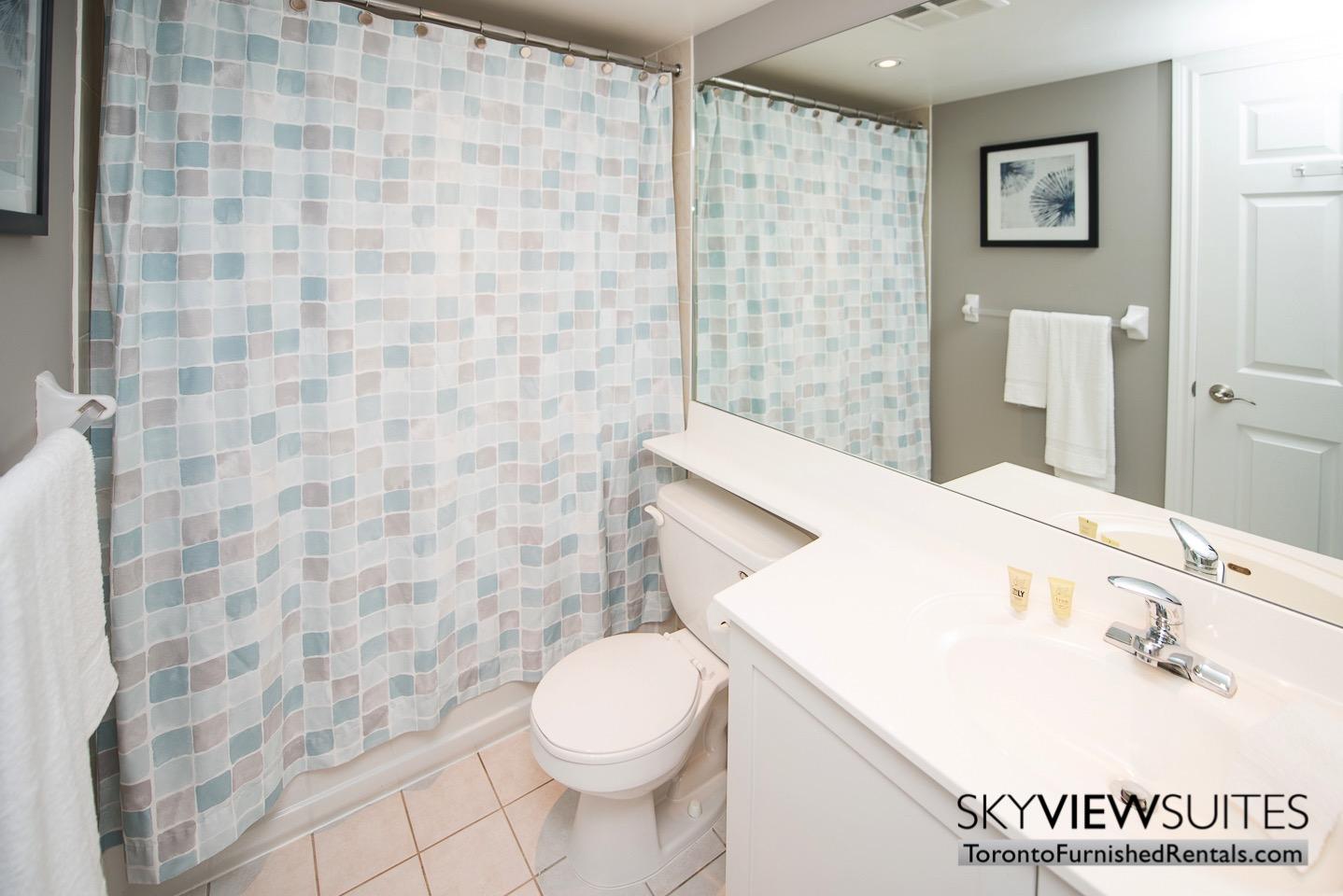 Wellington and Blue Jays Way executive rentals toronto bathroom