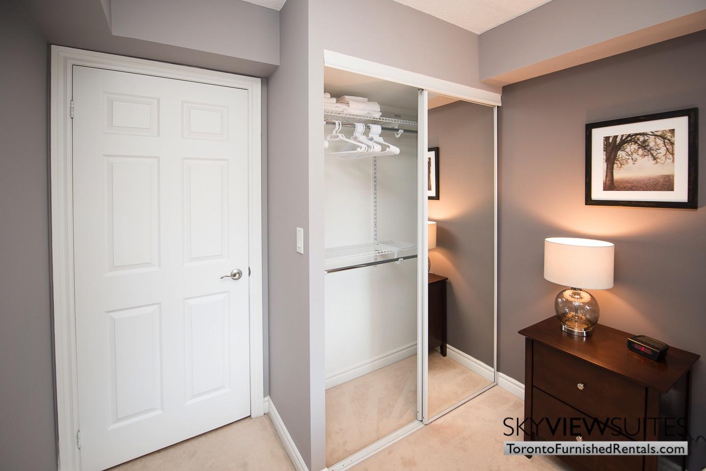 Wellington and Blue Jays Way executive rentals toronto bedroom closet space ample
