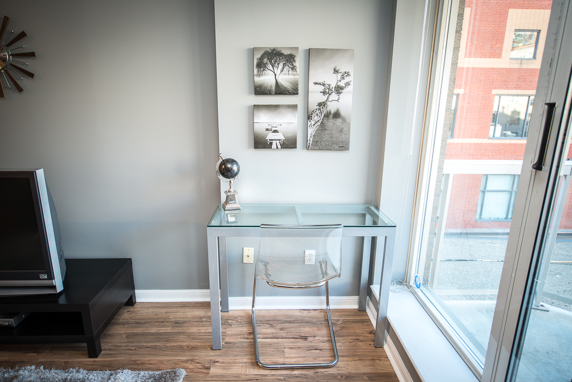 Adelaide & Sherbourne executive rentals toronto desk and globe
